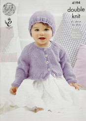 King Cole Baby DK knitting pattern 4194