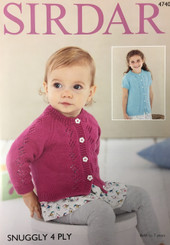 Sirdar Snuggly 4ply Baby knitting pattern  4740