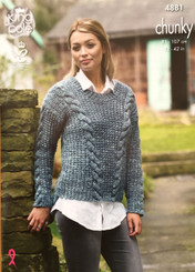 King Cole Ladies Chunky Knitting pattern 4881