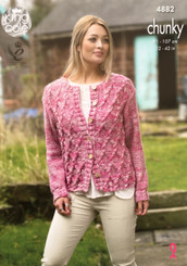 King Cole Ladies Chunky knitting pattern. 4882