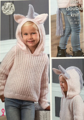 King Cole DK childrens knitting pattern 5036