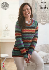 King Cole ladies chunky knitting pattern 5010