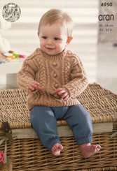 King Cole Baby Aran knitting pattern 4950
