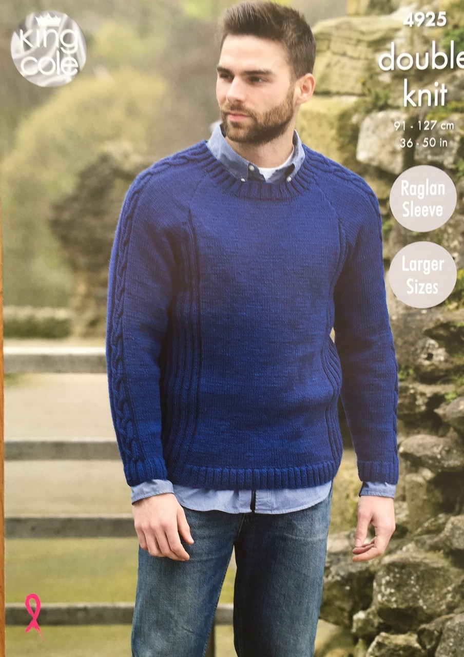 ce13e5f860b2 King Cole Mens DK knitting pattern 4925 - The Sewing Box