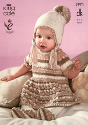 King Cole Baby Set DK knitting pattern 3971