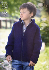 King Cole Boys & Girls  Chunky knitting pattern 3256