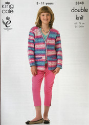 King Cole Girls & Boys Double knitting pattern 3848