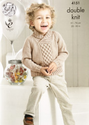 King Cole  Boys double knitting pattern 4151