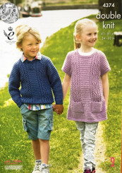 King Cole boys & girls double knitting pattern 4374