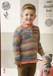 King cole boys double knitting pattern 4453