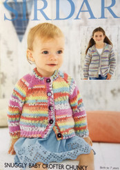 Sirdar Snuggly  baby Crofter Chunky knitting pattern 4779