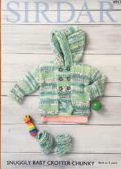Sirdar Snuggly Baby Crofter Chunky knitting pattern 4917