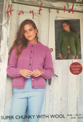 Hayfield Super Chunky ladies knitting pattern 8026