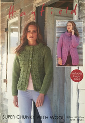 Hayfield Super Chunky ladies knitting pattern 8025