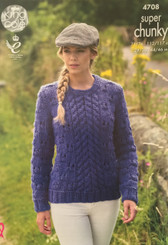 King Cole Super Chunky ladies knitting pattern 4708