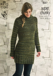 King Cole Super Chunky ladies knitting pattern 4067