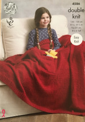 Kinf Cole EASY KNIT blanket & teddy knitting pattern 4586
