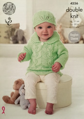 King Cole Babies DK knitting pattern 4556