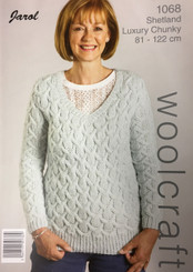 Woolcraft Shetland Luxury Chunky ladies knitting pattern 1068