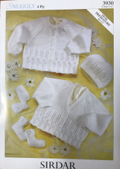 Sirdar Baby 4ply knitting pattern 3930