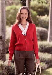 Sirdar Ladies 4ply knitting pattern 7044