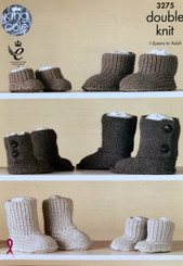 King Cole knitted boots. 3275