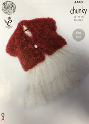 King Cole Tinsel Chunky knitting pattern 4440
