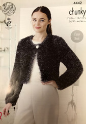King Cole Tinsel Chunky knitting pattern 4442