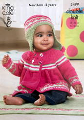 King Cole babies & girls Dk knitting pattern  3499