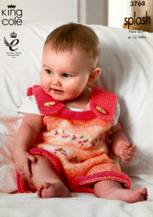 King Cole babies DK knitting pattern 3768