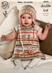 King Cole Babies DK knitting pattern 4010