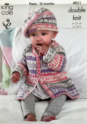 King Cole babies Dk knitting pattern 4011