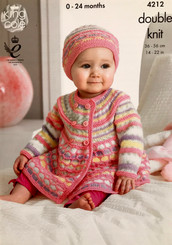 King Cole babies DK knitting pattern 4212