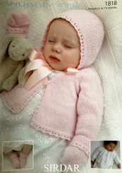 Sirdar Baby girl 4 ply knitting pattern 1818