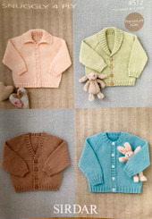 Sirdar baby 4ply knitting pattern 4512