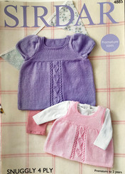 Sirdar baby 4ply knitting pattern 4885