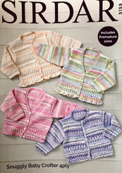 Sirdar baby girl 4ply knitting pattern 5159