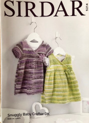 Sirdar baby girls   4ply  knitted dresses 5214