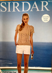 Sirdar ladies cotton Dk knitting pattern 7912