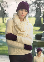 King Cole ladies chunky knitting pattern  4279