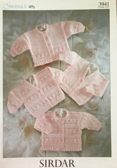 Sirdar 4ply baby knitting pattern 3941