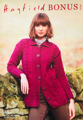 Hayfield Bonus Aran ladies knitting pattern 10081