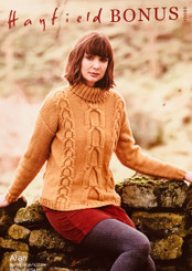 Hayfield Bonus Aran Ladies Jumper knitting pattern 10080