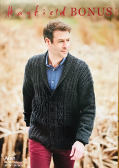 Hayfield Bonus Mens Aran Cardigan 10079