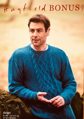Hayfield Bonus Aran Mens jumper 10078