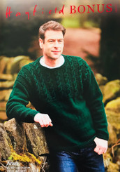 Hayfield Bonus Aran Mens knitted  Jumper 10077