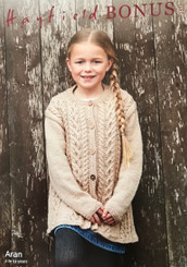 Hayfield BonusAran Girls jumper knitting patter 2510