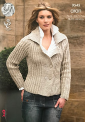 King Cole ladies Aran knitting pattern 3545