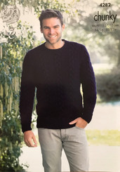 King Cole Mens Chunky knitting pattern 4282