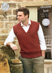 King Cole DK Men's knitting pattern  4272